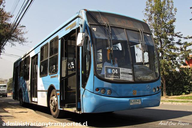 Transantiago E04   Unitran   Busscar Urbanuss Pluss - Mercedes Benz / BJFP47