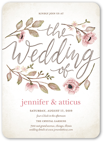 Delightful Blooms 5x7 Wedding Invitation Cards | Shutterfly