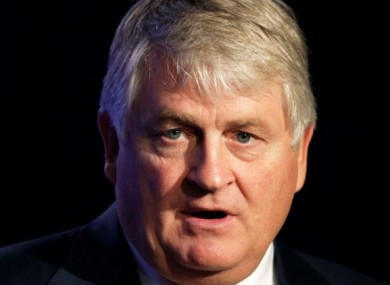 (Above) Denis O'Brien (Below) RTE logo