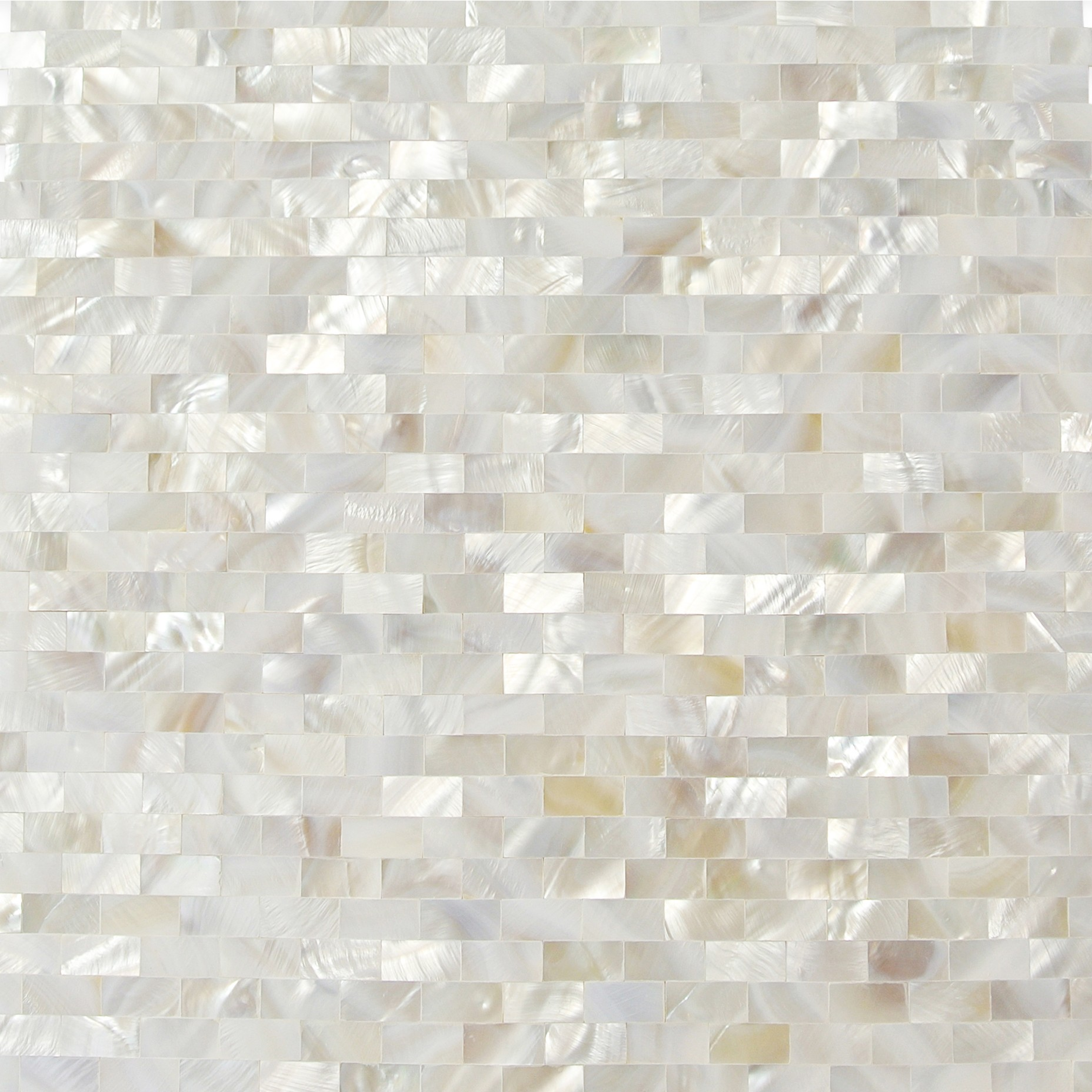 White Brick Look Tile Serene White Bricks Seamless Pearl Shell Tile