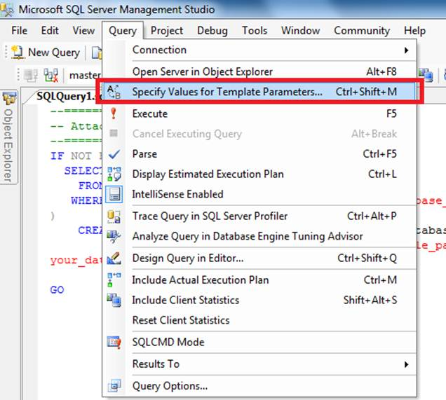 SQL Server Performance Overview of Template Explorer Feature in SQL