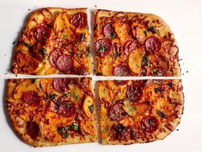 Paleo Butternut Squash-Soppressata Pizza
