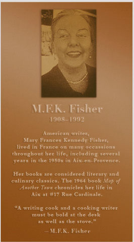 Proposed M.F.K. Fisher memorial plaque at No.17 Rue Cardinale