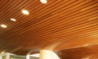 Bamboo Linear Ceiling Panels | Interior Design Ideas