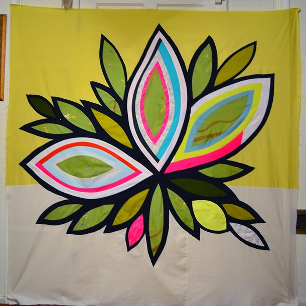 """""""Indigo Bloom"""" / 73"""" x 73"""" / Latifah Saafir"""