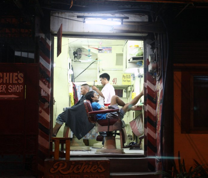 barbershop at night 1