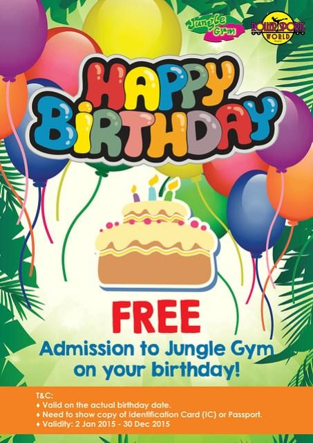Happy B'day Free Admission