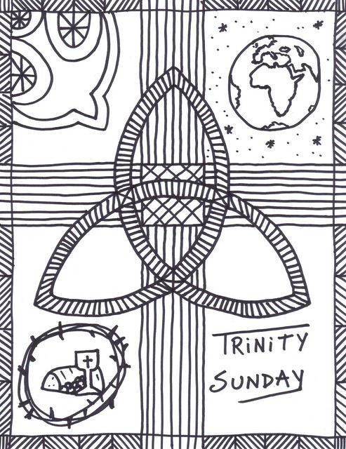 Trinity Sunday Bulletin Covers \u2013 Stushie Art - free black and white bulletin covers