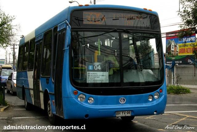 Transantiago E04   Unitran   Metalpar Tronador - Mercedes Benz / BHYV96