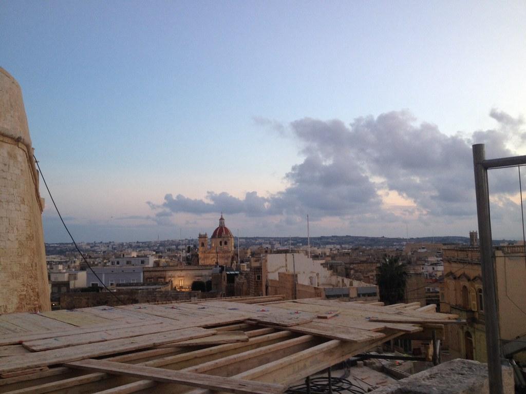 Cittadella em obra - Vista de Gozo