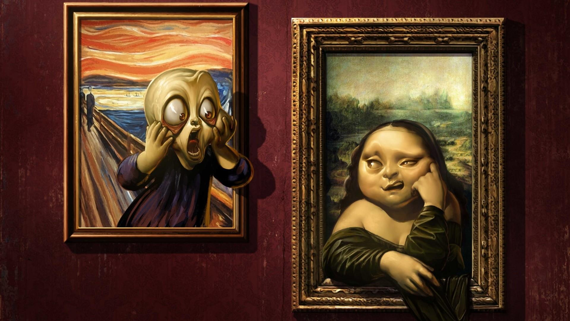 Cuadro La Mona Lisa Hd Wallpaper Mona Lisa Painting Edvard Munch Scream Leonardo