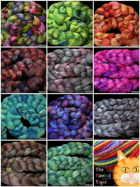 Hand Dyed Blended Merino at The Painted Tiger