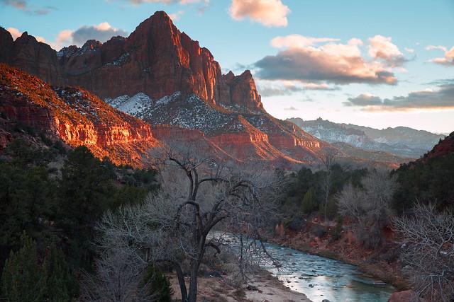 Watchman winter sunset