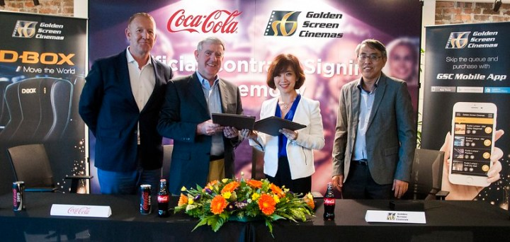 Coca-Cola Malaysia Signed New Agreement with Golden Screen Cinemas