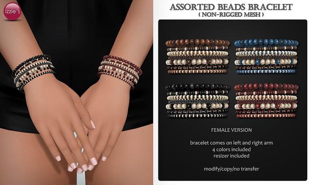 Assorted Beads Bracelet (female) for FLF