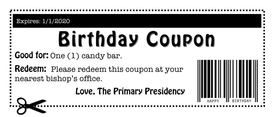Birthdays extreme coupon code  Freebies assalamualaikum cute - fun voucher template