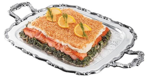 Baked Salmon Rockfeller