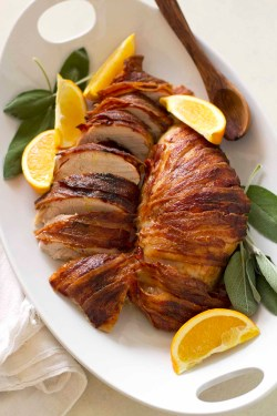 Dashing An Oven Bag How To Make A Turkey Breast Moist Bacon Wrapped Maple Bourbon Turkey Breast Bacon Wrapped Maple Bourbon Turkey Breast Girl Versus Dough How To Make A Turkey Breast
