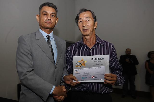 Giro pelo Pará. Servidor Nota 10 da Emater recebe prêmio em Belém, foto de Mário Tanaka, servidor Nota 10/2016