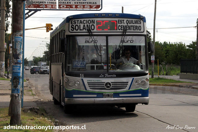 Buenos Aires 257 | Expreso Villa Nueva (Quilmes) | La Favorita GR - Mercedes Benz / JES745