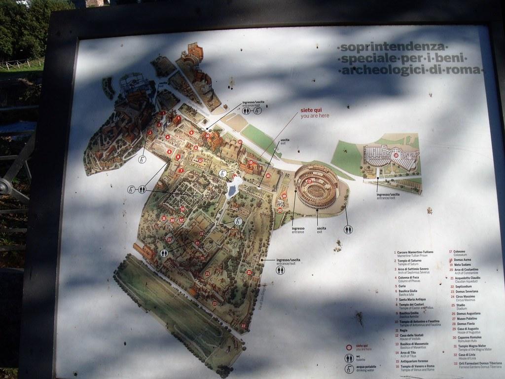 Mapinha da Roma Antiga no Foro Romano