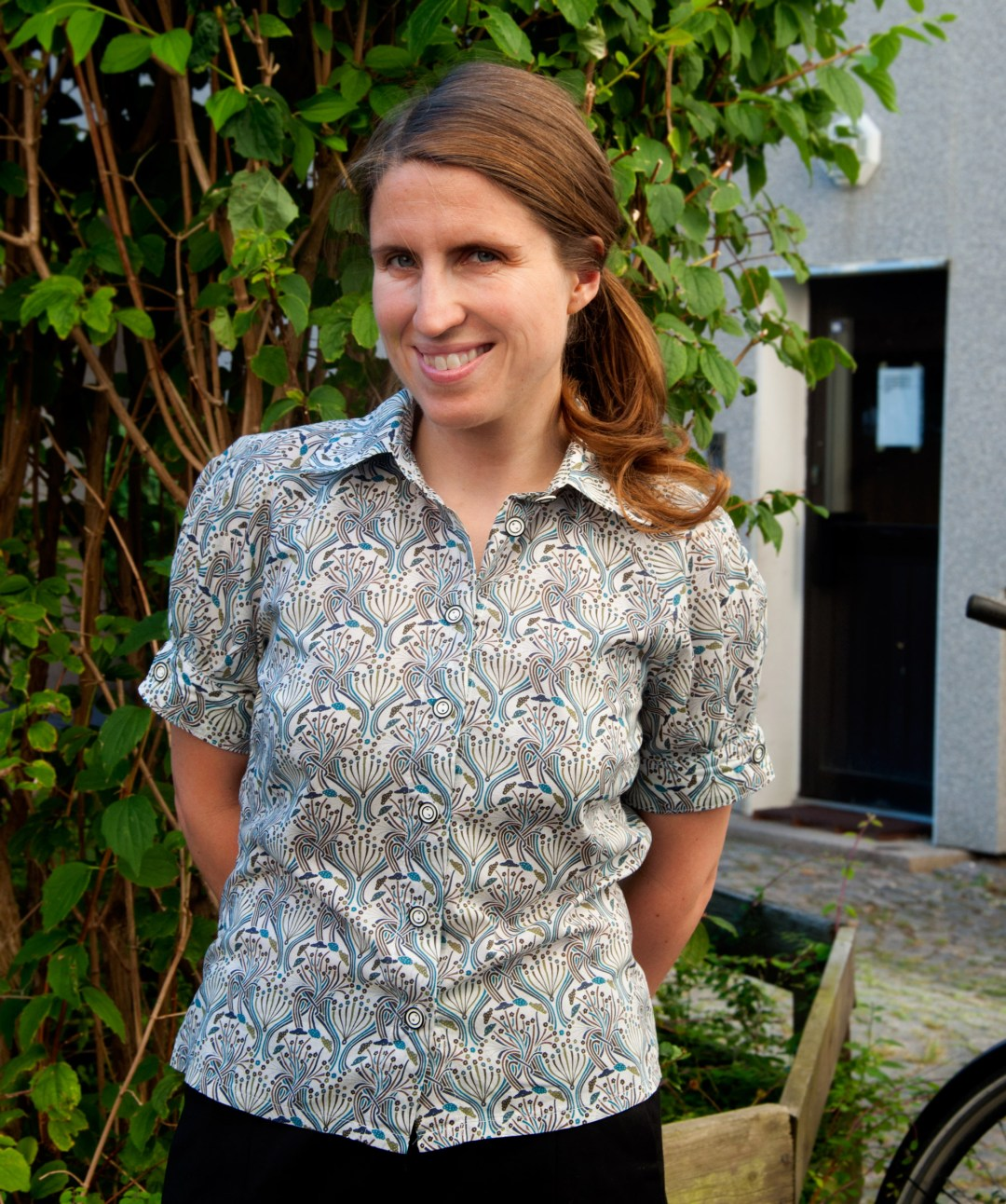 Liberty pegalia blouse. Burdastyle pattern