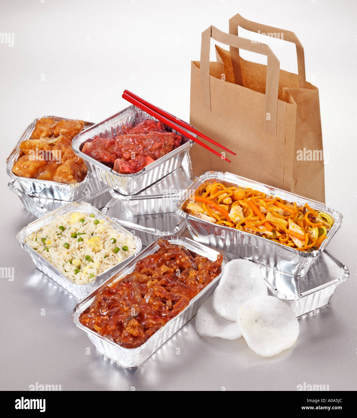 Chinese Takeaway Chinese Food Take Away Selection Stock Photo Royalty Free