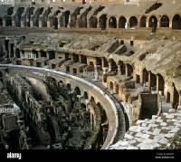 Colosseum, interior, underground structure, hypogeum ...