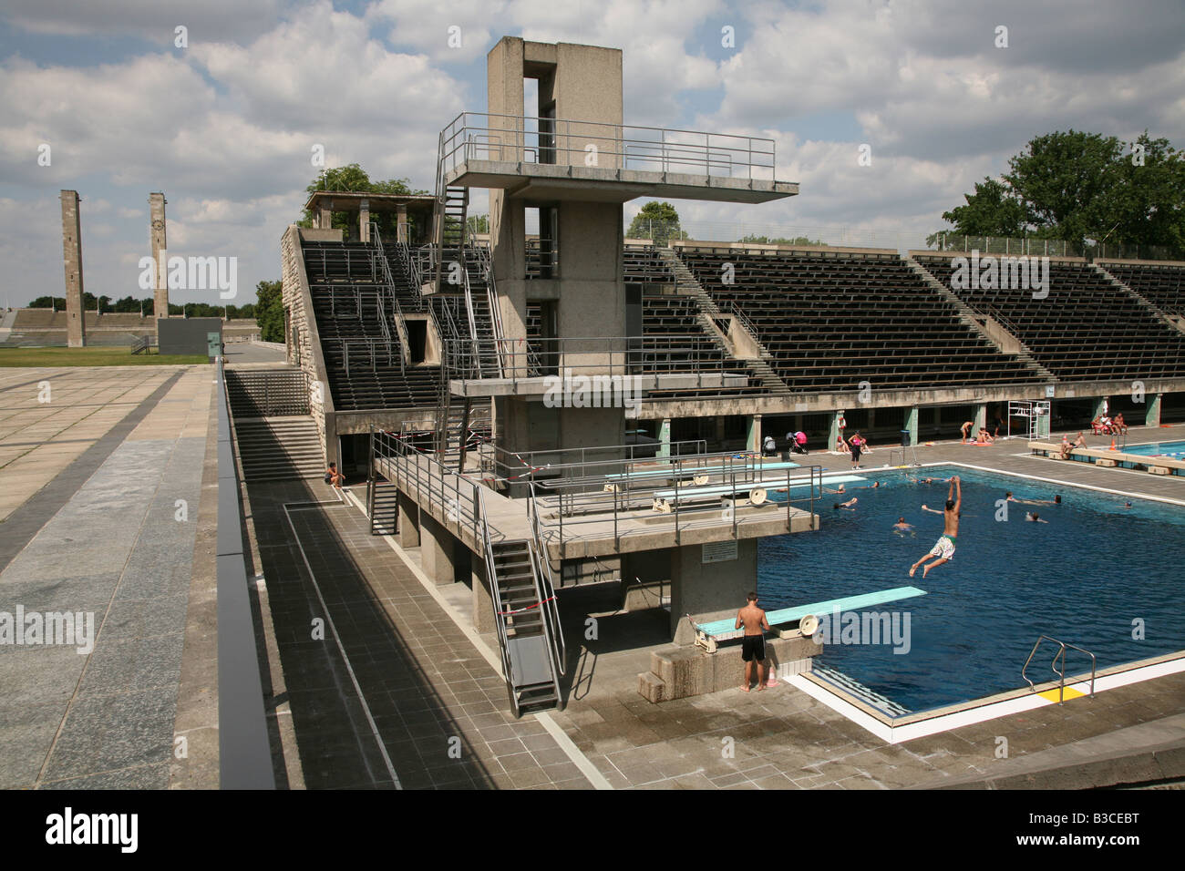 Swimmingpool Berlin Olympic Swimming Pool In The Area Of The Olympia Stadium In Berlin