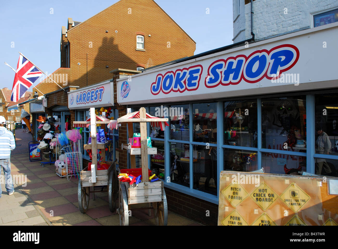 The Online Joke Shop Joke Shop Hunstanton Stock Photo Royalty Free Image