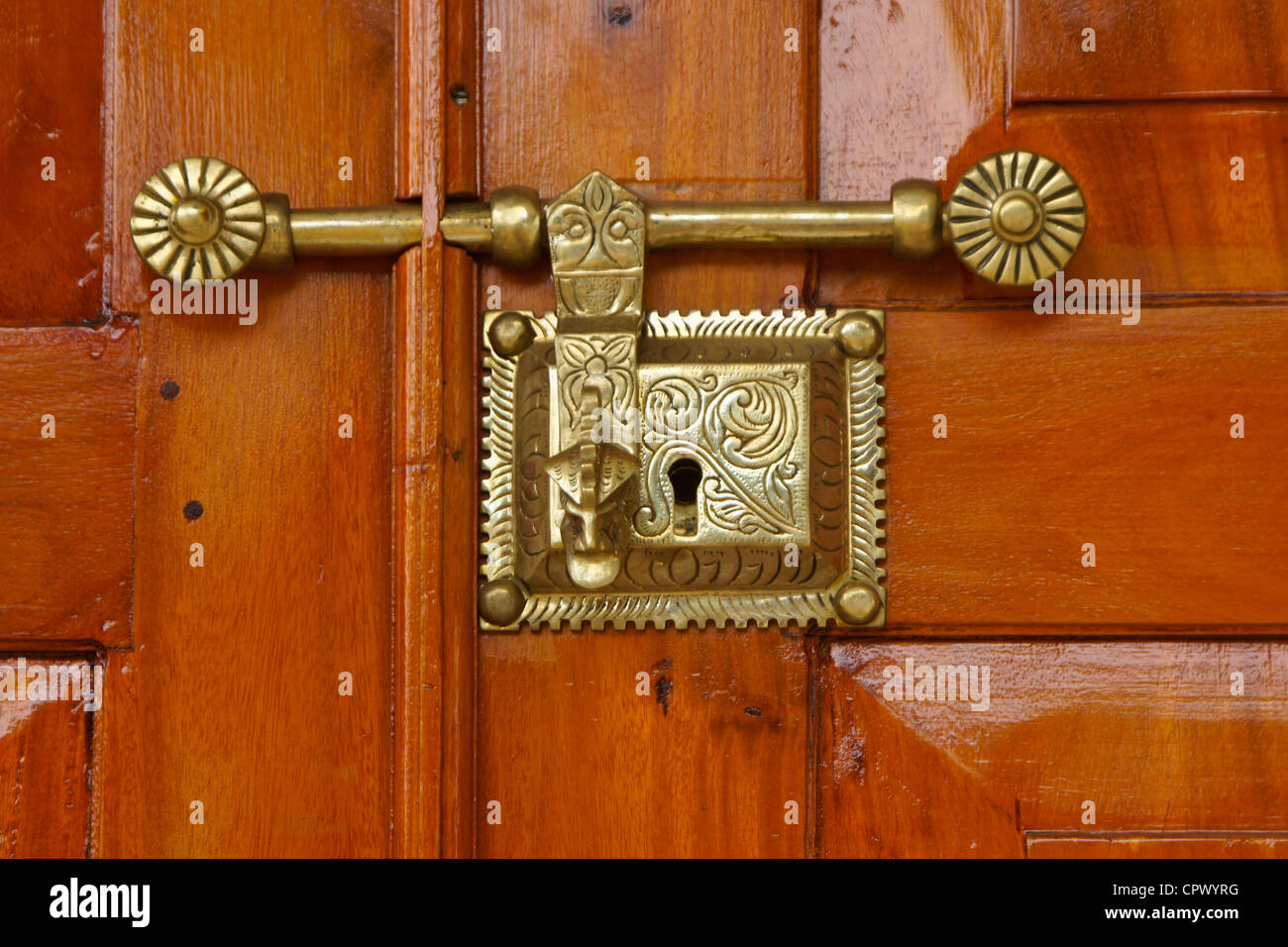 Door Designs Sri Lanka Photo Gallery Brass Lock On Door At Asigiriya Maha Vihara Monastery