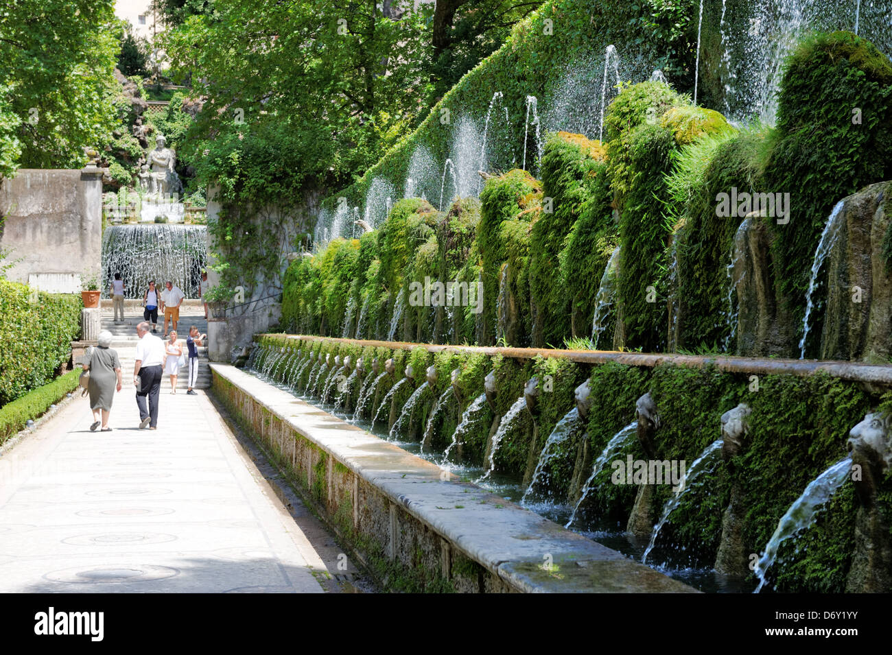 History Of Tivoli Gardens Italy Villa D Este Tivoli Italy View Along The Avenue Of The