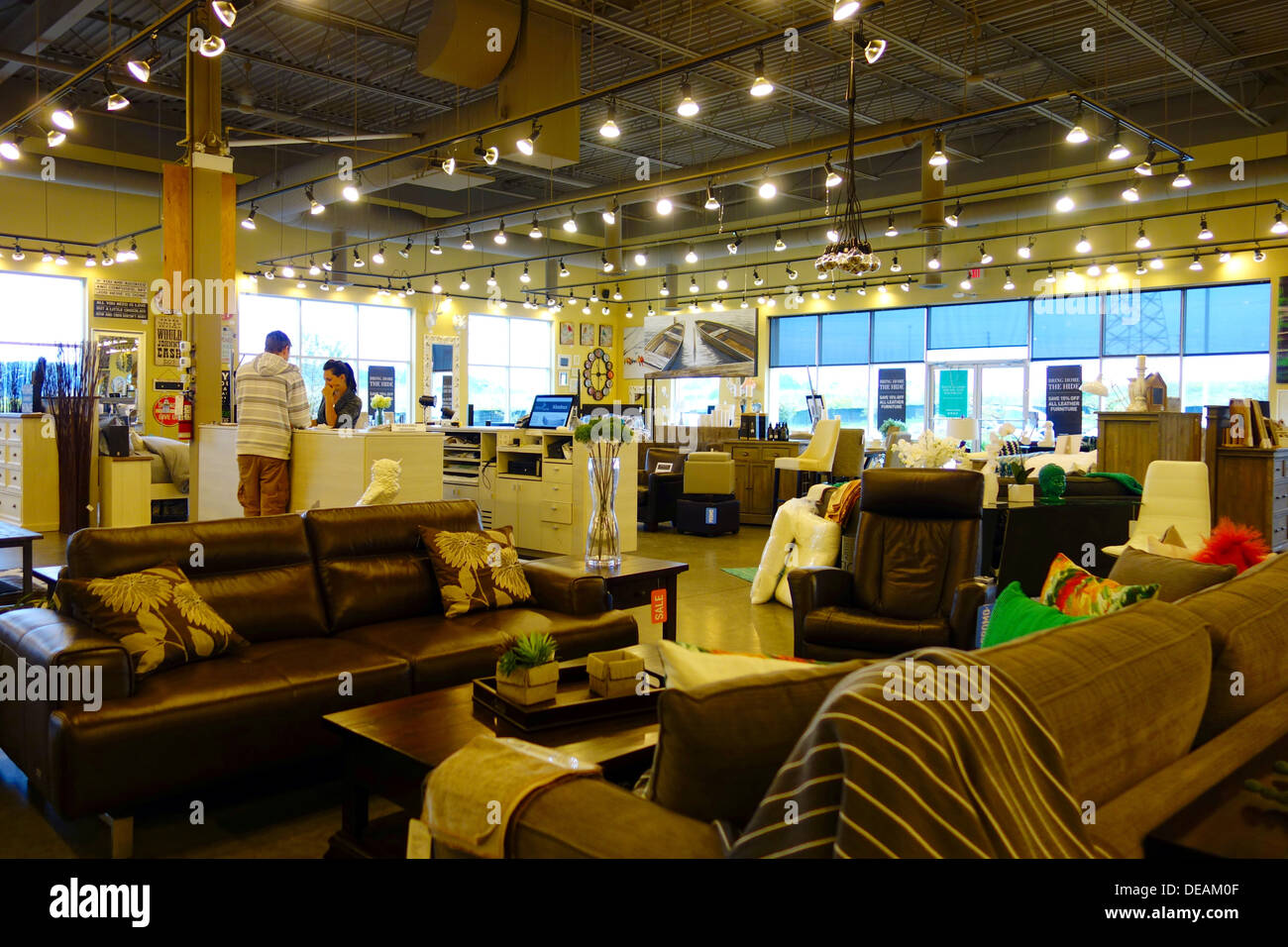 Furniture Shops Richmond Urban Barn Furniture Store In Richmond Hill Canada Stock