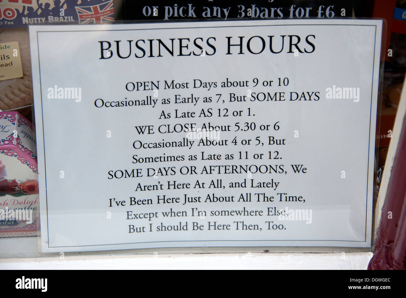 The Online Joke Shop Funny Shop Business Hours Opening Sign Sometimes Stock