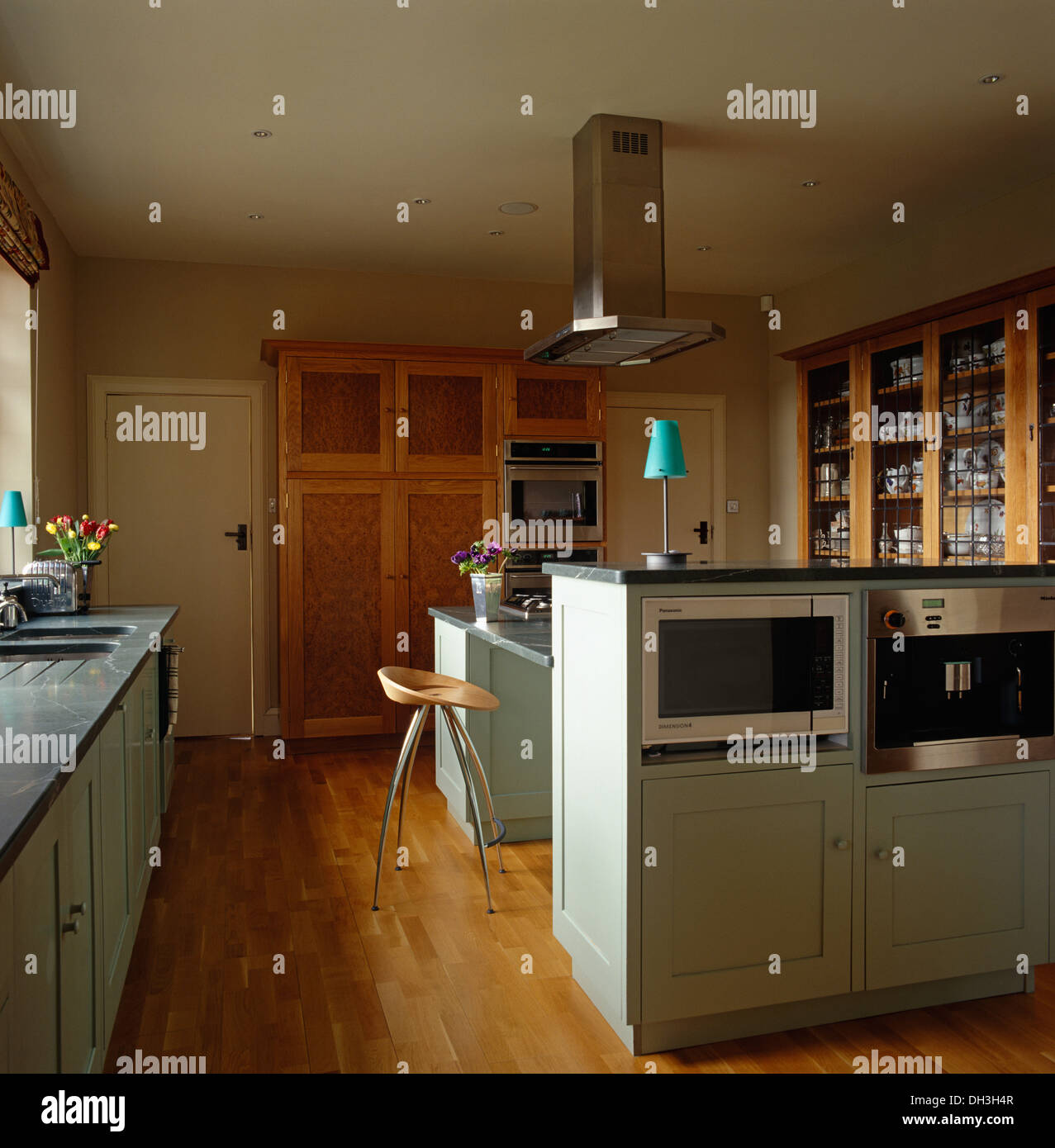 Oven In Island Unit Microwave And Oven In Island Unit In Modern Kitchen With
