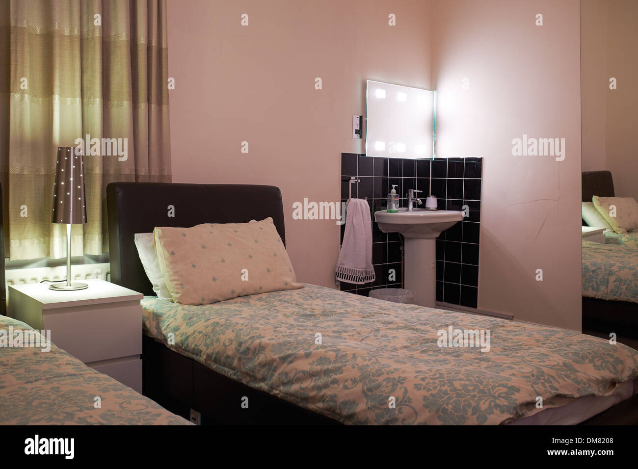 House Bed Frame Uk Interior Of A Budget Bed And Breakfast Guest House Uk Stock Photo