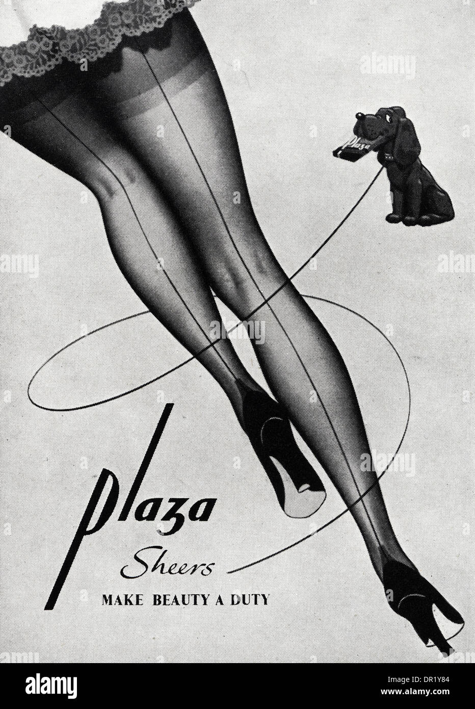 Plaza Werbung 1950s Advertisement Advertising Plaza Stockings. Advert In