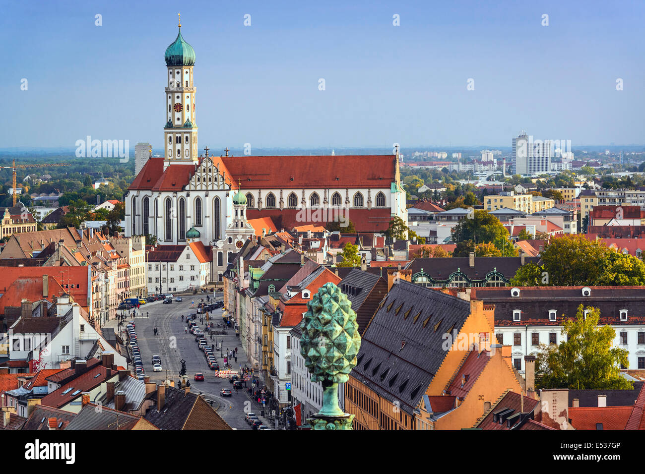 Augsburg Shopping Augsburg Germany Downtown Skyline Stock Photo 71986566