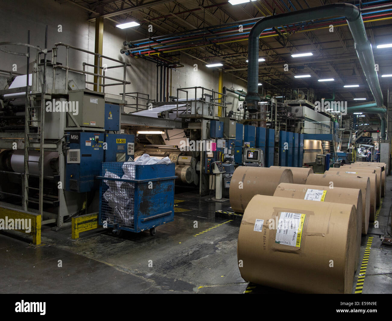 Web Offset Printing Machine Large Rolls Of Paper For Web Offset Press Stock Photo 72129050