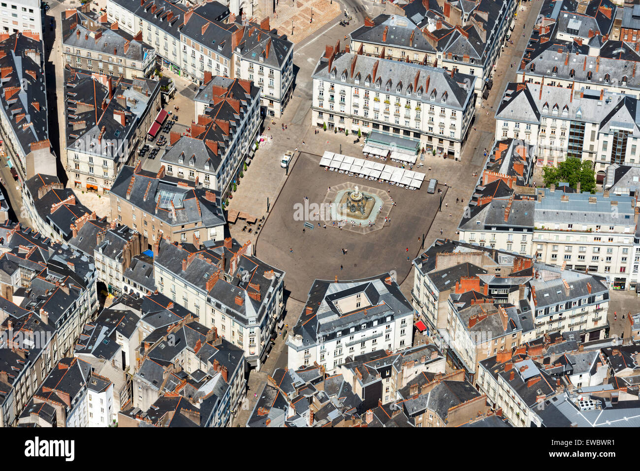 Square Habitat Nantes Nantes North Western France Aerial View Of The Square
