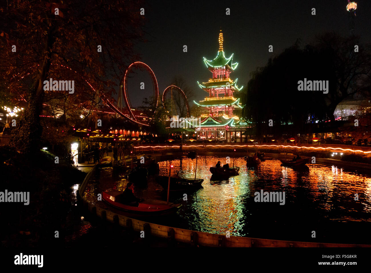 Tivoli Gardens New York City Ballet Rides Dragon Stock Photos And Rides Dragon Stock Images Alamy