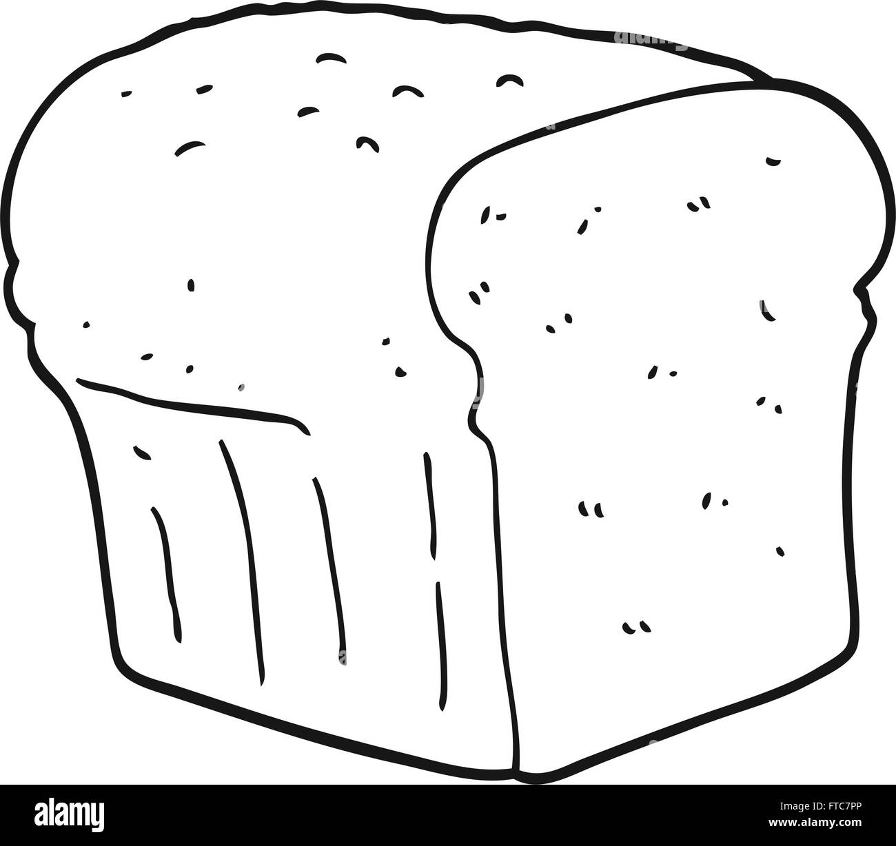 Loaf Clipart Black And White Freehand Drawn Black And White Cartoon Bread Stock Vector