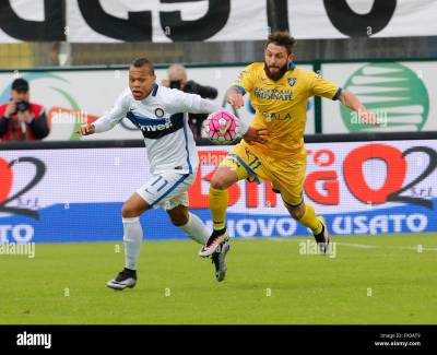 Frosinone, Italy. 09th Apr, 2016. Jonathan Biabiany challenges Oliver Stock Photo, Royalty Free ...