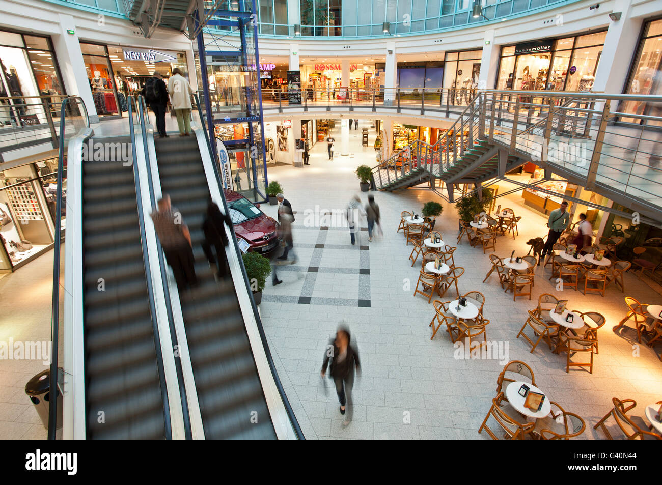Rostock Shopping Shopping Center Kroepeliner Strasse Street Rostock Stock Photo