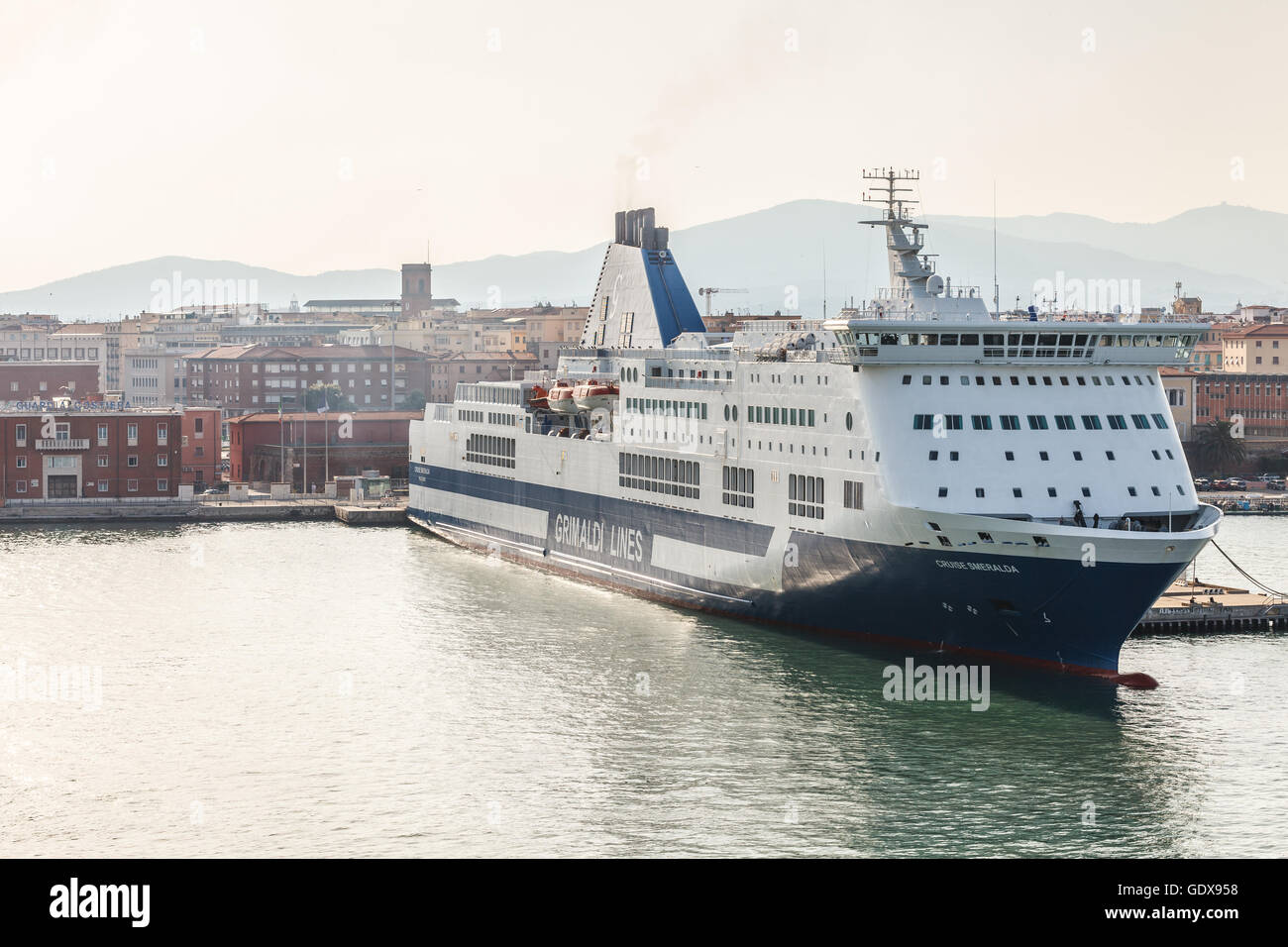 Livorno Olbia Ferry Grimaldi Lines Cruise Smeralda Ferry Boat The Port In