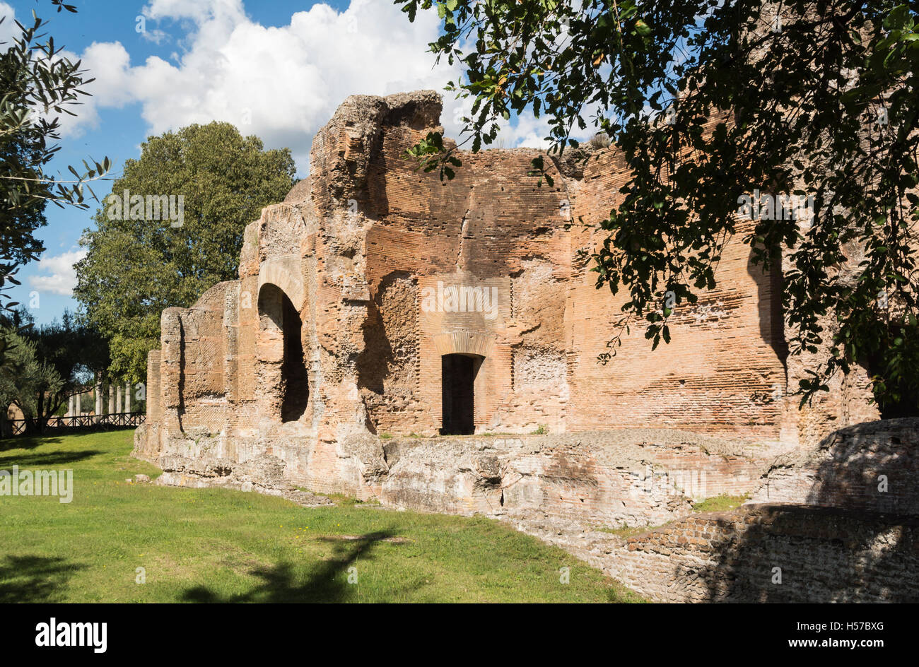 Tivoli Rome Weather Piccole Terme Villa Adriana Tivoli Italy Stock Photo