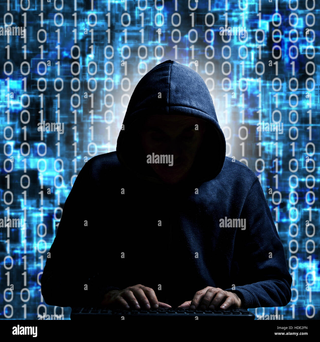 Anonymous Mask Wallpaper 3d Anonymous Hacker In Hood Typing On A Keyboard With Binary