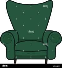 Animated Cartoon Armchair in Minimalist Vector Isolated on ...