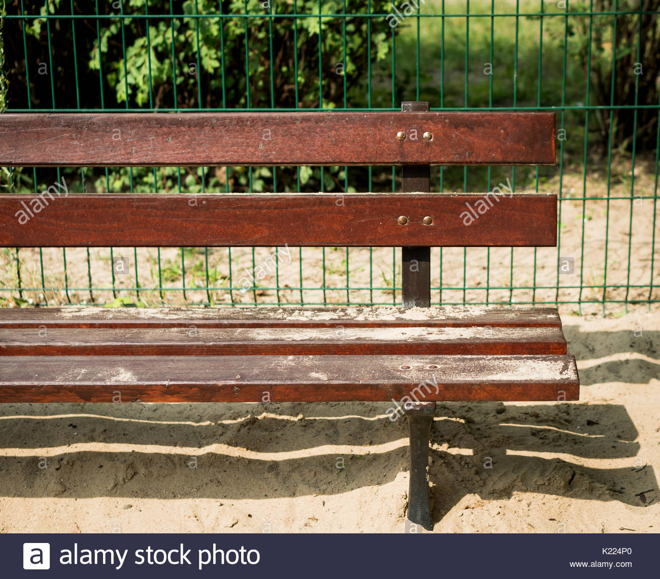 Wooden Park Benches Front Metal Bench Painted Stock Photos And Metal Bench Painted