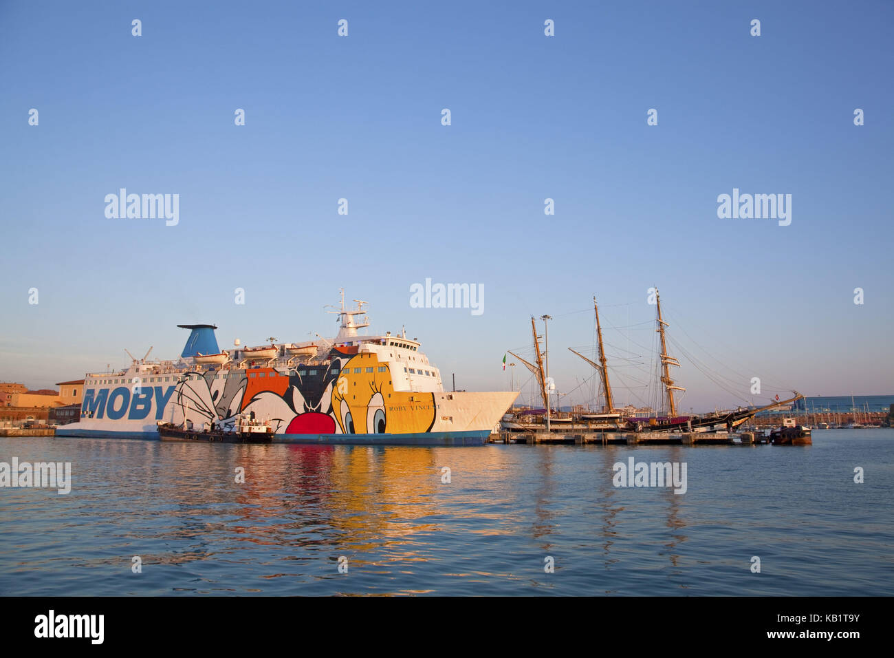 Livorno Olbia Ferry Moby Lines Stock Photos And Moby Lines Stock Images Alamy